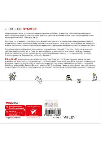Tył okładki książki/ebooka Przedsiębiorczość zdyscyplinowana. Od startupu do sukcesu w 24 krokach