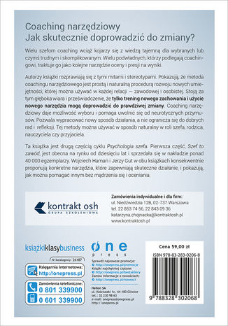 Tył okładki książki/ebooka Psychologia szefa 2. Coaching narzędziowy