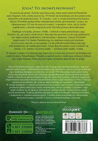 Tył okładki książki/ebooka Psychologia jogi. Wprowadzenie do 'Jogasutr' Patańdźalego. Wydanie II rozszerzone
