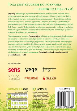 Tył okładki książki/ebooka Psychologia jogi. Wprowadzenie do 'Jogasutr' Patańdźalego