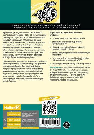 Tył okładki książki/ebooka Python. Instrukcje dla programisty