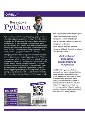 Tył okładki książki/ebooka Python. Rusz głową! Wydanie II