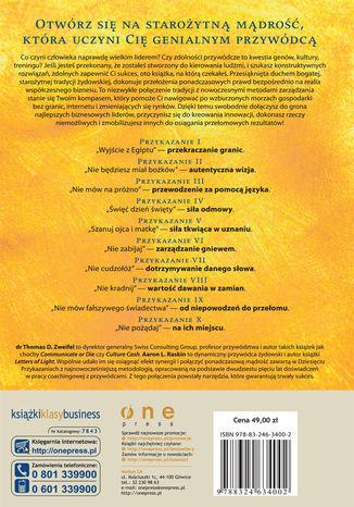 Tył okładki książki/ebooka Rabin i CEO. Wskazówki dla lidera biznesu XXI wieku