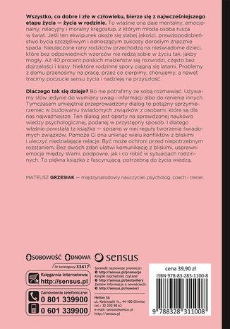 Tył okładki książki/ebooka Psychologia relacji, czyli jak budować świadome związki z partnerem, dziećmi i rodzicami