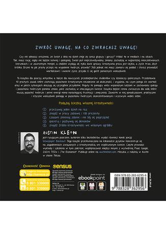 Tył okładki książki/ebooka Rób swoje! 10 sposobów na kreatywność w każdym czasie