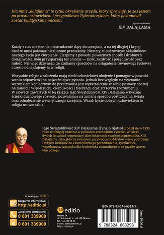 Tył okładki książki/ebooka Ścieżka buddyzmu tybetańskiego. Koniec cierpienia i odkrycie drogi do szczęścia