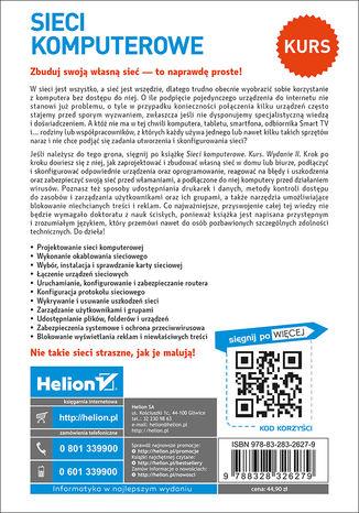 Tył okładki książki/ebooka Sieci komputerowe. Kurs. Wydanie II