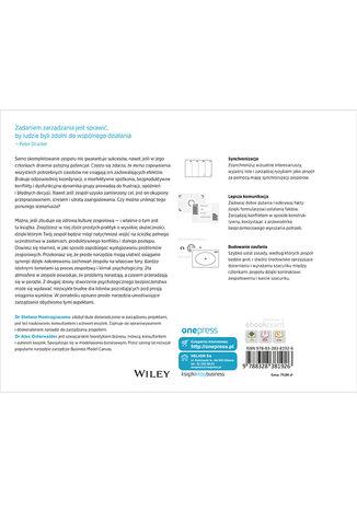 Tył okładki książki/ebooka Skuteczne zarządzanie zespołem. Jak uzyskać harmonię, zaufanie i widoczne efekty pracy w zespole