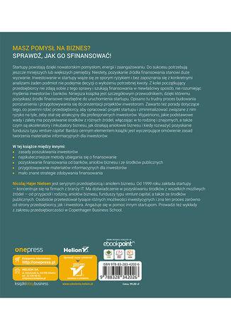 Tył okładki książki/ebooka Finansowanie startupów. Poradnik przedsiębiorcy