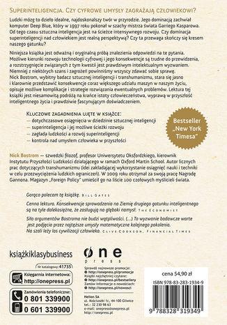 Tył okładki książki/ebooka Superinteligencja. Scenariusze, strategie, zagrożenia