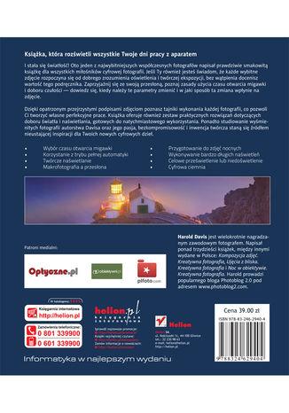 Tył okładki książki/ebooka Światło i ekspozycja. Warsztaty artystyczne dla fotografów