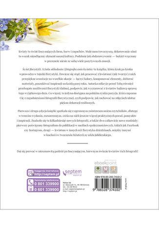Tył okładki książki/ebooka Świat florystyki. Sztuka układania i fotografowania kwiatów. Wydanie III rozszerzone