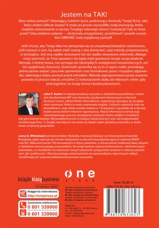 Tył okładki książki/ebooka Świetne pomysły. Jak je skutecznie prezentować i bronić ich przed destrukcyjną krytyką