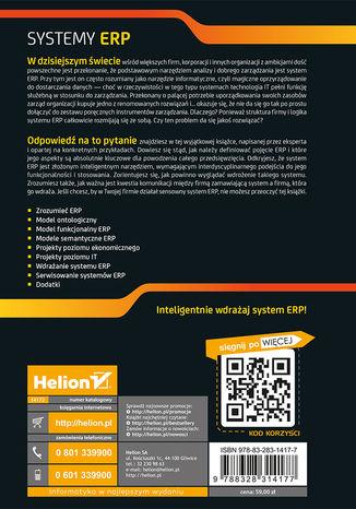 Tył okładki książki/ebooka Systemy ERP. Modelowanie, projektowanie, wdrażanie