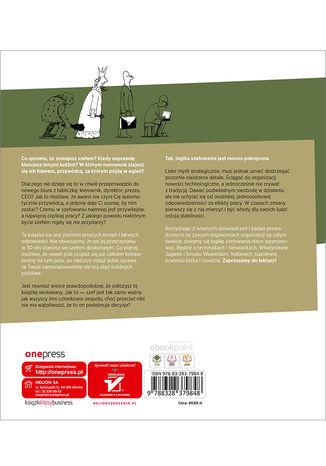 Tył okładki książki/ebooka Szefologika, czyli logika szefowania. Wydanie 2 rozszerzone