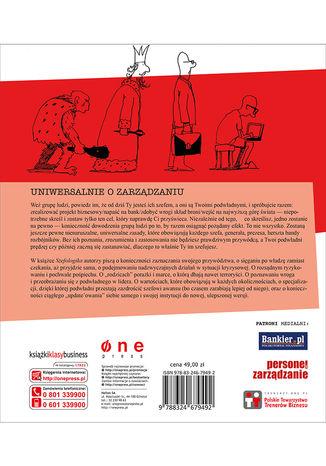 Tył okładki książki/ebooka Szefologika, czyli logika szefowania