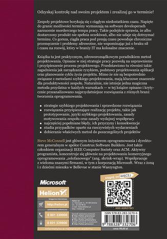 Tył okładki książki/ebooka Szybkie projektowanie. Zapanuj nad chaosem zadań i presją czasu