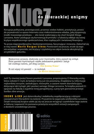Tył okładki książki/ebooka Tajemny klucz do Millennium skandalisty Stiega Larssona