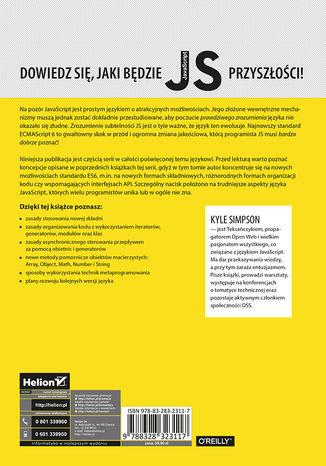 Tył okładki książki/ebooka Tajniki języka JavaScript. ECMAScript 6 i dalej