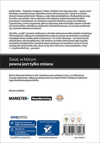 Tył okładki książki/ebooka Twoja firma w social mediach. Podręcznik marketingu internetowego dla małych i średnich przedsiębiorstw. Wydanie III