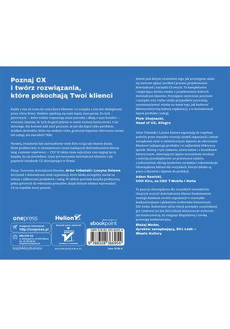 Tył okładki książki/ebooka Tworzenie doświadczeń klientów