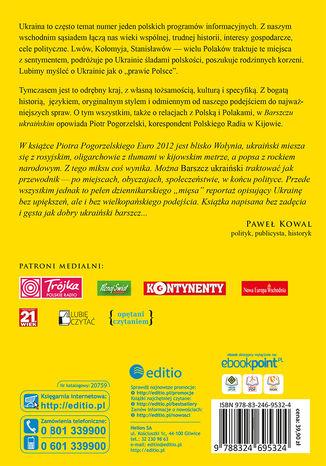 Tył okładki książki/ebooka Barszcz ukraiński. Wydanie II rozszerzone