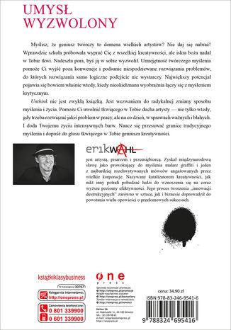 Tył okładki książki/ebooka Unthink. Obudź w sobie kreatywnego geniusza
