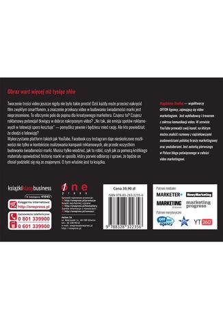 Tył okładki książki/ebooka Video marketing nie tylko na YouTube