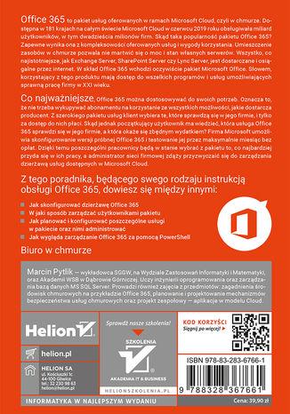 Tył okładki książki/ebooka Wdrożenie Office 365 w małej organizacji krok po kroku