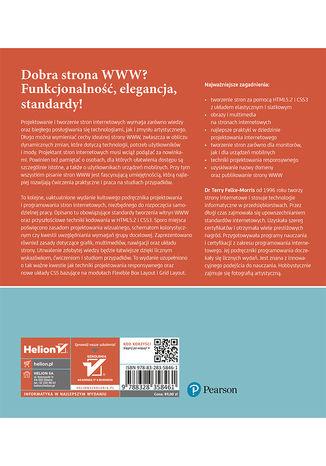 Tył okładki książki/ebooka Web Design z HTML5 i CSS3. Technologie frontendowe od podstaw. Wydanie V