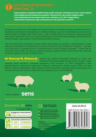 Tył okładki książki/ebooka Wilk w owczej skórze. Jak zdemaskować przeciwnika i skutecznie bronić się przed manipulacją