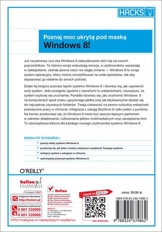 Tył okładki książki/ebooka Windows 8. Praktyczne rozwiązania