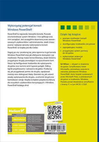 Tył okładki książki/ebooka Windows PowerShell. Najlepsze praktyki