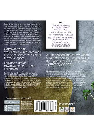 Tył okładki książki/ebooka W stylu lagom. 250 kroków do zrównoważonego i szczęśliwszego życia