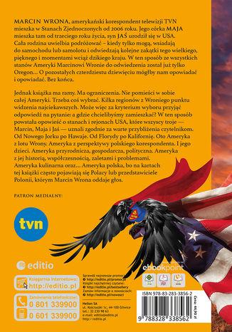 Tył okładki książki/ebooka Wroną po Stanach