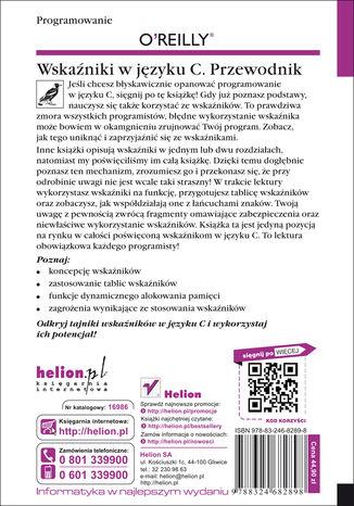 Tył okładki książki/ebooka Wskaźniki w języku C. Przewodnik