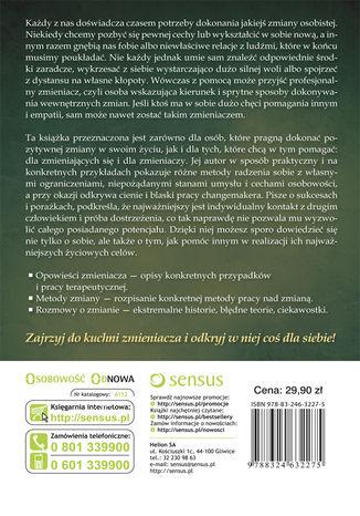 Tył okładki książki/ebooka Opowieści zmieniacza. Jak zmienić swoje życie na lepsze?