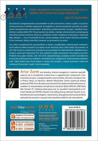 Tył okładki książki/ebooka Zarządzanie przez zaangażowanie. Jak bezinwestycyjnie poprawić wyniki firmy