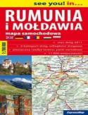 Rumunia, Mołdawia. Mapa samochodowa