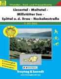 Liesertal, Maltatal, Millstätt. Mapa turystyczna