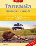 Tanzania. Rwanda, Burundi. Mapa
