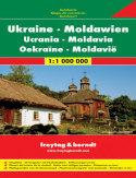 Ukraina, Mołdawia. Mapa samochodowa