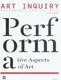 Art Inquiry. Recherches sur les arts Volume XIV (XXIII)