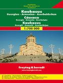 Kaukaz. Gruzja, Armenia, Azerbejdżan. Mapa samochodowa