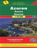 Azory. Mapa Freytag & Berndt / 1:50 000