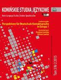 Konińskie Studia Językowe Tom 3 Nr 2 2015