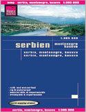 Serbia, Czarnogóra, Kosowo. Mapa Reise Know-How / 1:385 000