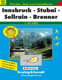 Innsbruck, Stubai. Mapa turystyczna