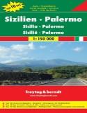 Sycylia, Palermo. Mapa samochodowa / 1:150 000
