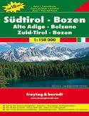 Tyrol Południowy, Bolzano, Trentino. Mapa Freytag & Berndt / 1:150 000